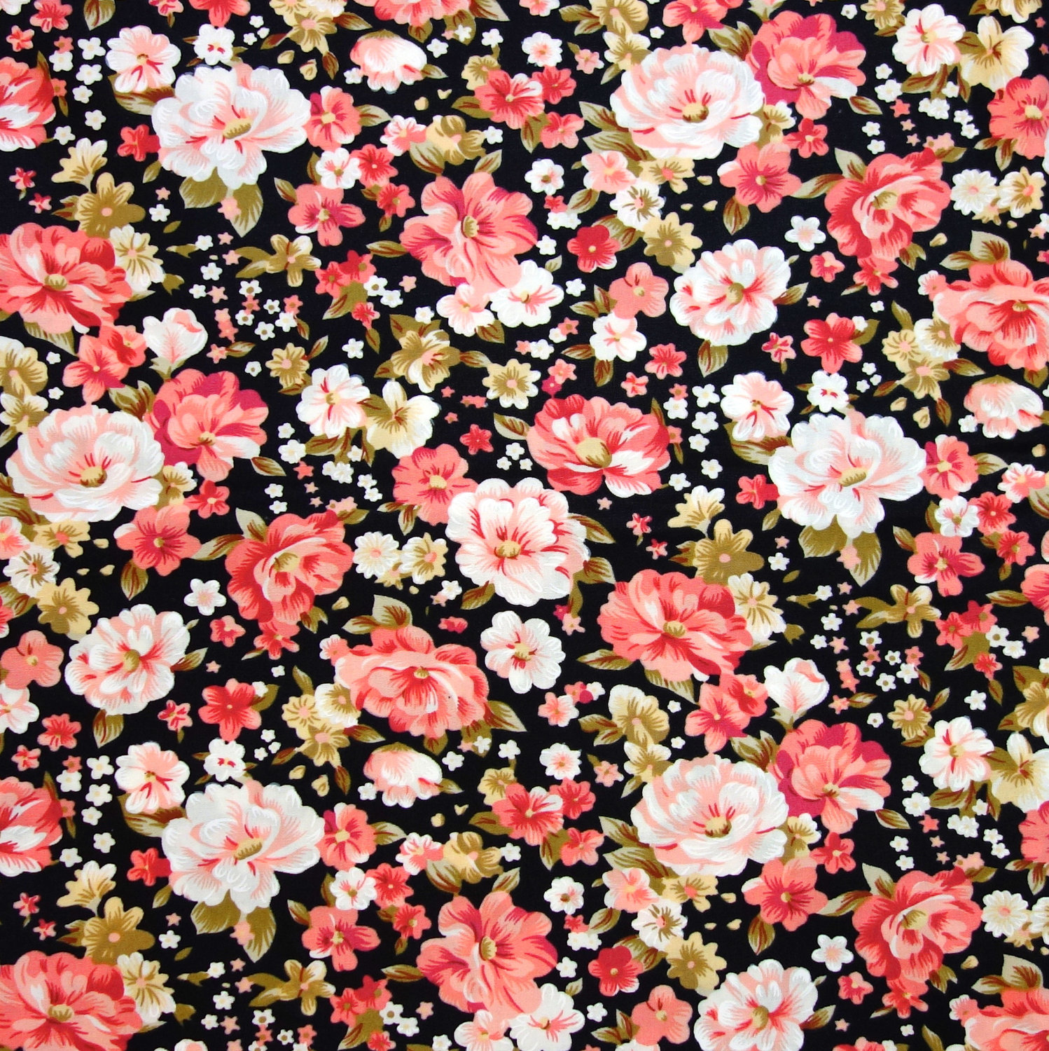 1000+ images about Floral Print | Black with Bright on Pinterest