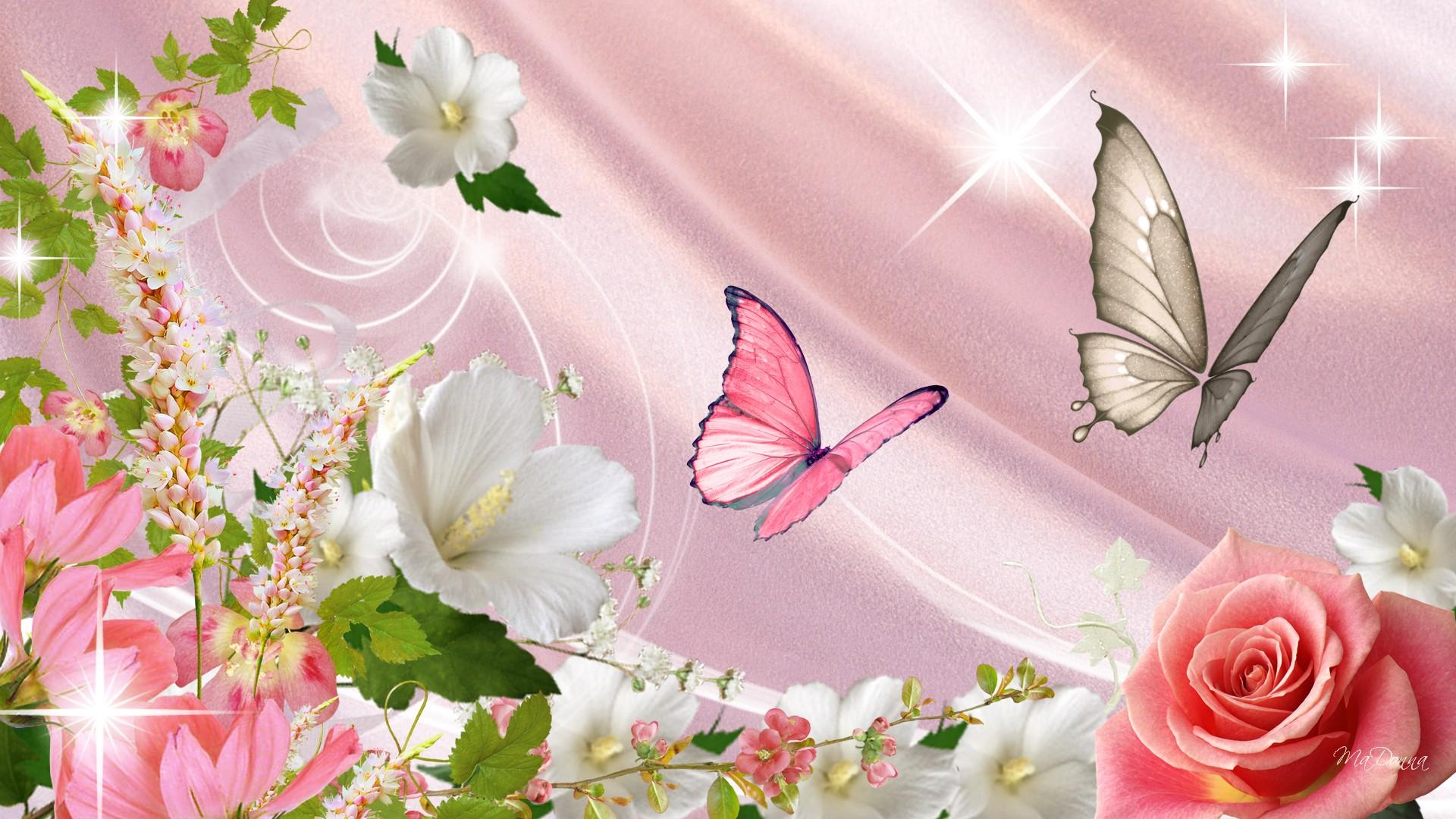 Flowers and butterflies wallpaper sf wallpaper butterfly and flower wallpaper wallpapersafari mightylinksfo
