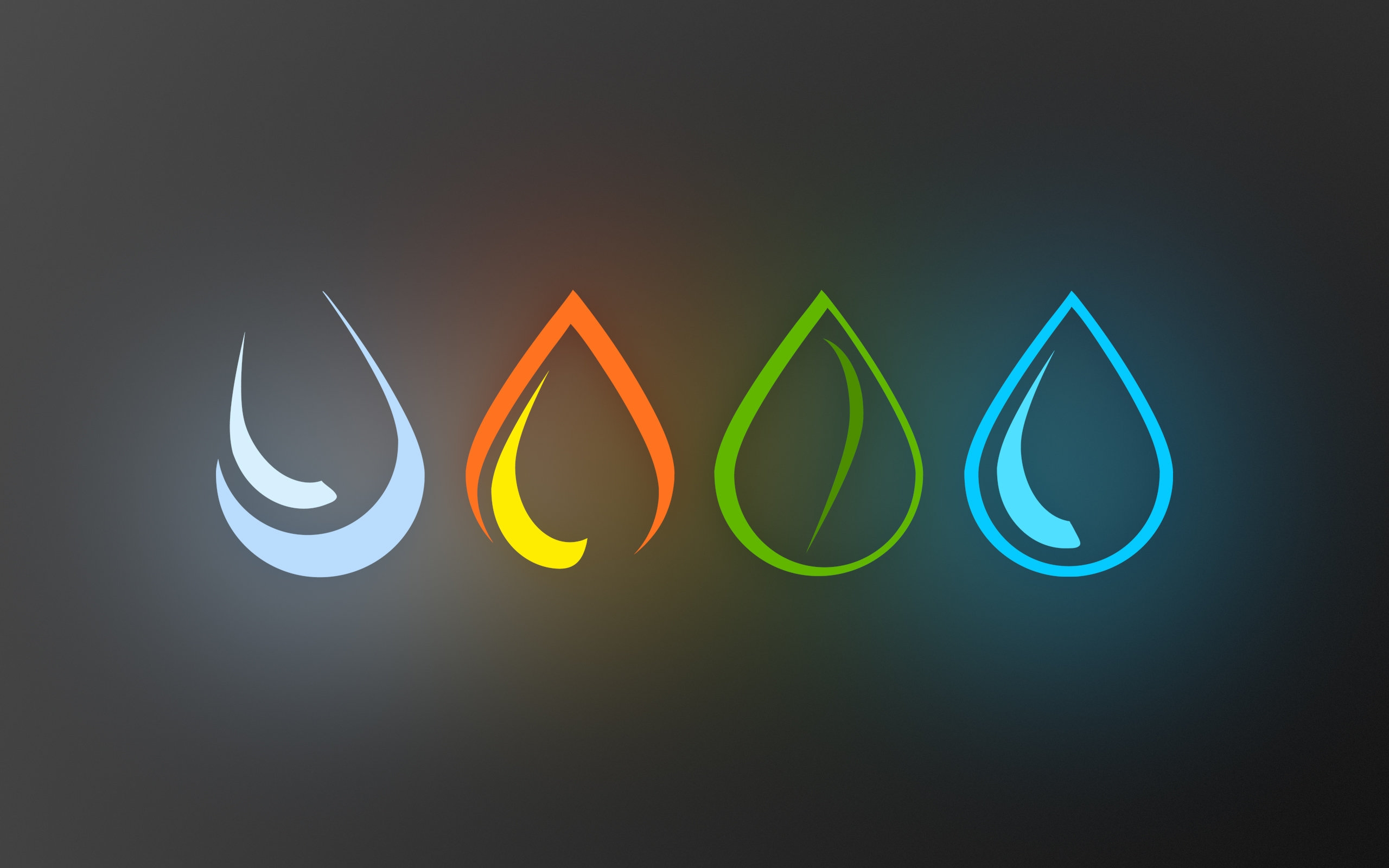 The Four Elements Water - Earth- Fire - Air Wallpapers HD