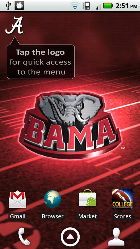 Alabama Crimson Tide Football Wallpaper Desktop - Wallpapers Kid