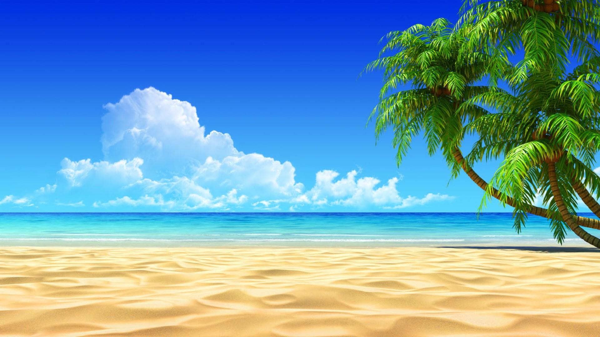 Free Beach Background wallpaper | 1920x1080 | #82680