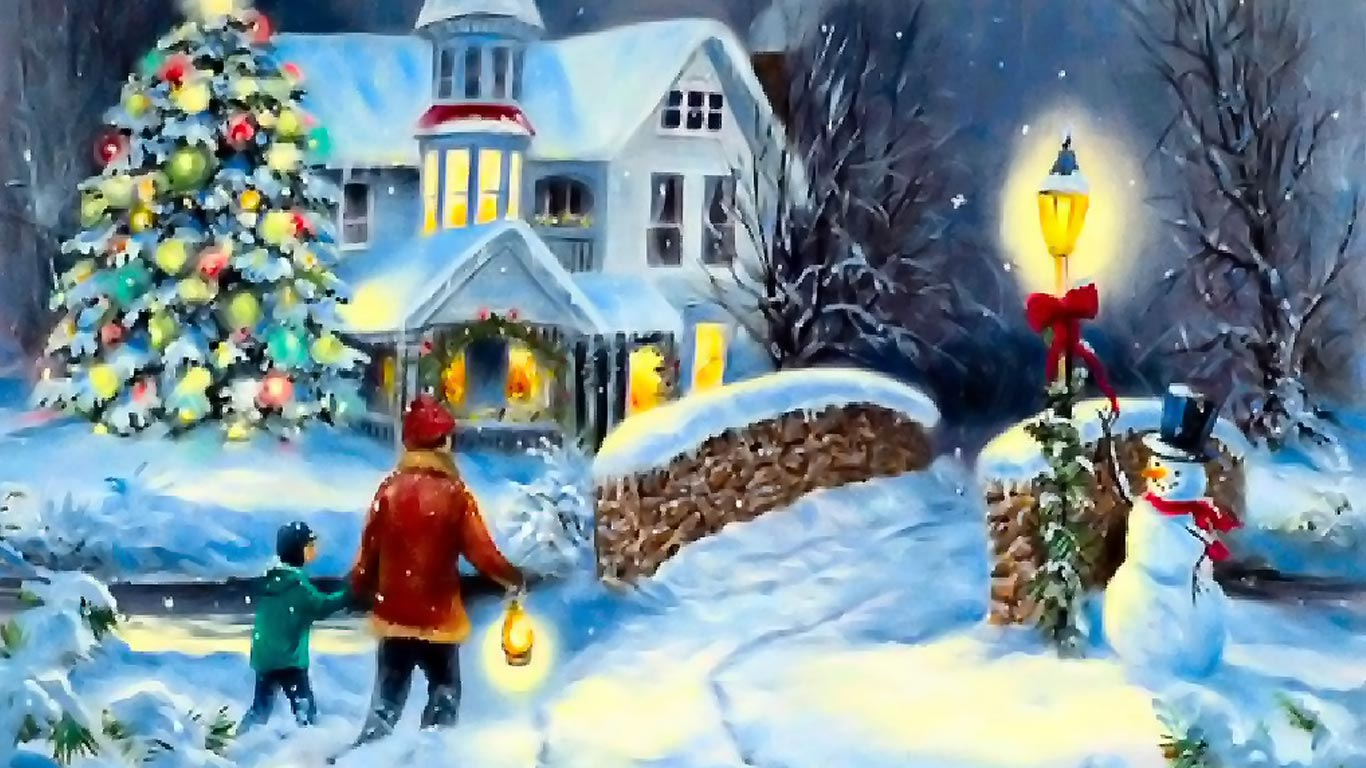 Free Christmas Desktop Wallpaper 1366x768 - WallpaperSafari