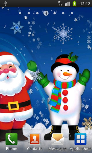 collection of free live christmas wallpapers android on hdwallpapers - Live Christmas Wallpapers Free