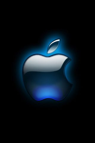Black Glossy Apple Logo iPhone Wallpaper HD - iPhone 5 Wallpapers