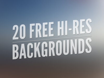20 Free Hi-Res Backgrounds by Gavin Anthony - Dribbble