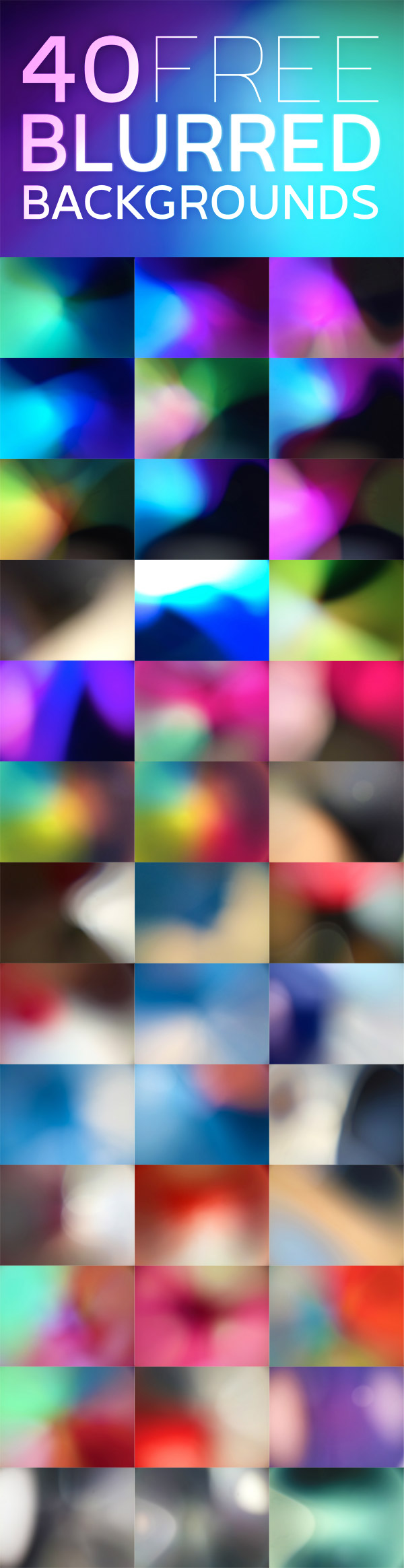 40 Free High Resolution Vibrant Blurred Backgrounds