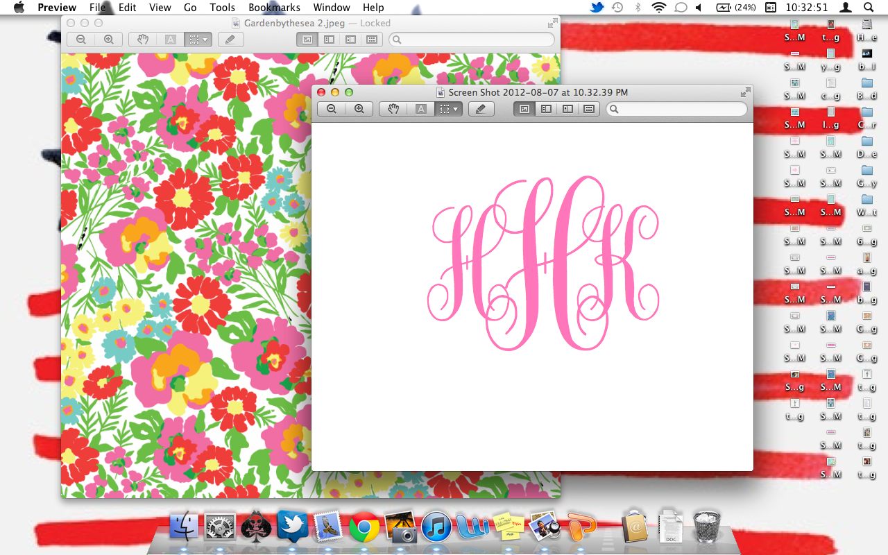 The Pink and Green Prep: Monogram Desktop Backgrounds!