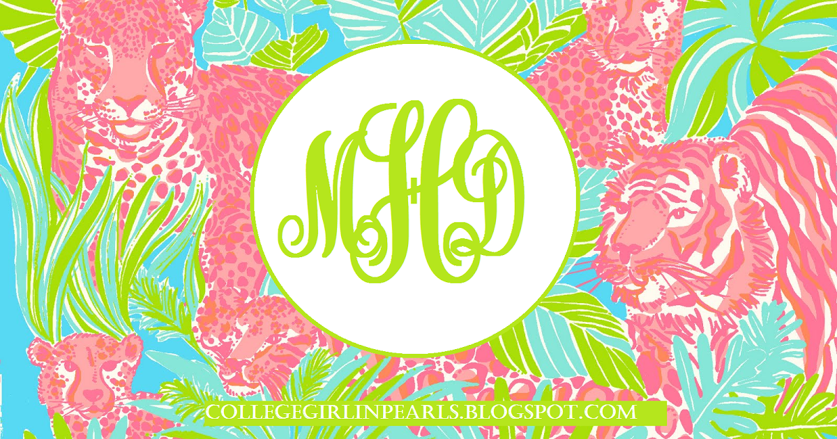 College Girl in Pearls: DIY Monogram Desktop Backgrounds! (Using