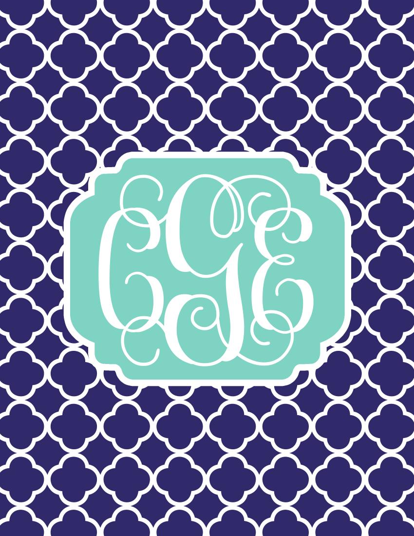 Create Monogrammed iPhone Wallpapers In 10 Easy Steps | Sweet
