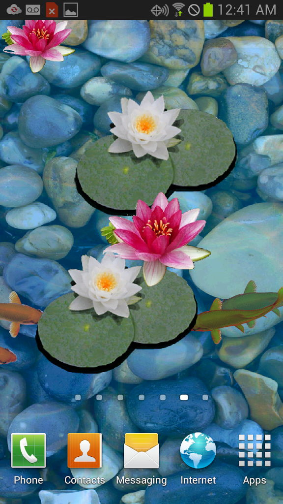 Download 3D Koi Pond Live Wallpaper for android, 3D Koi Pond Live