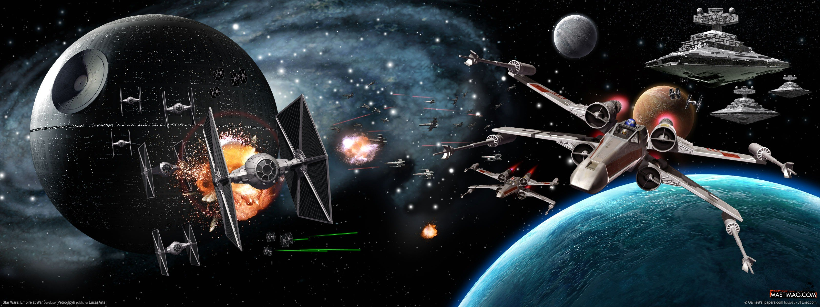 Star Wars Dual Monitor Wallpaper Sf Wallpaper