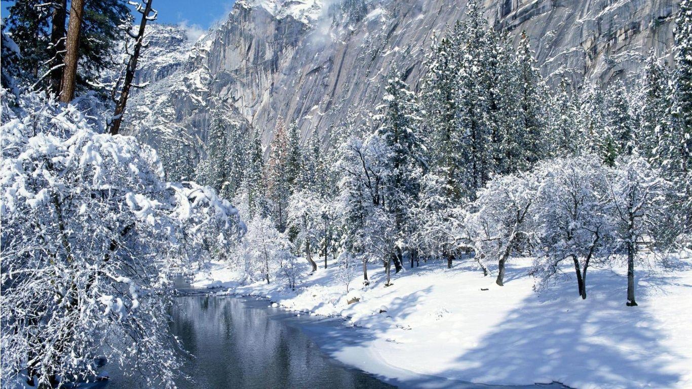 Free Winter Scene Wallpapers - Wallpaper Cave