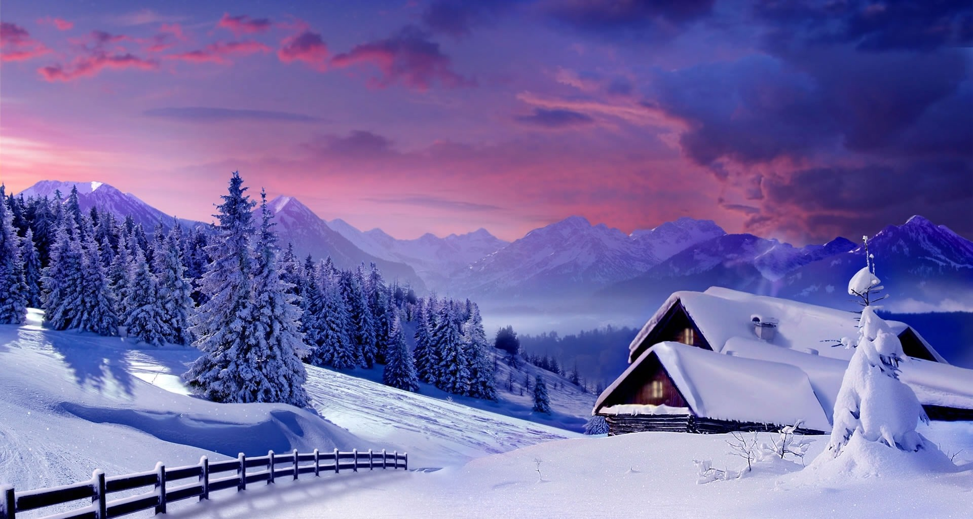 Free Winter Scenes Desktop Backgrounds Page 1