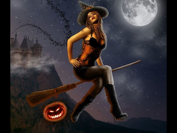 photos of witches in halloween | Free Halloween witch Wallpaper