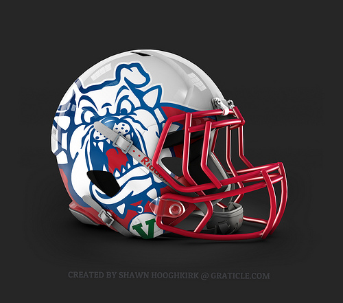Fresno State Helmet Concept - a photo on Flickriver
