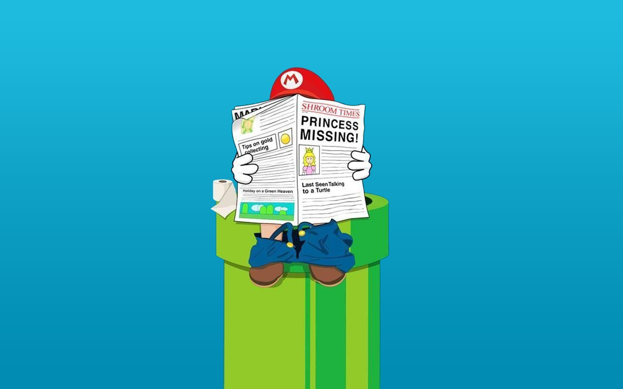 Funny Mario Nintendo Toilet Paper