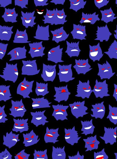 Gengar wallpaper | Gen Wunners | Pinterest | Patterns, I love and