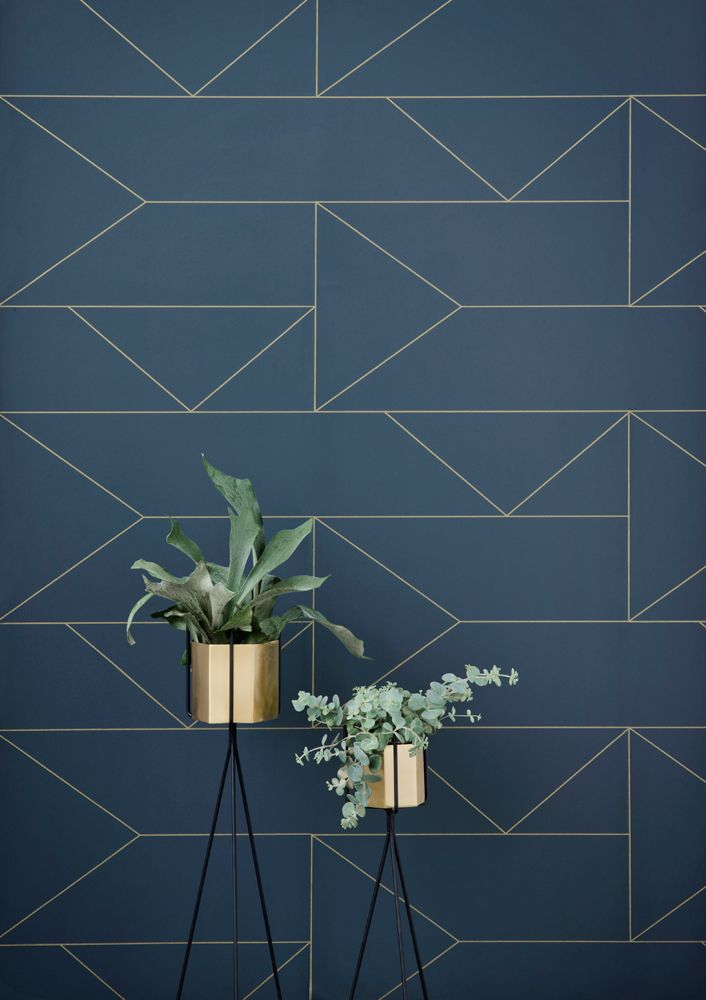 1000+ ideas about Geometric Wallpaper on Pinterest   Living room