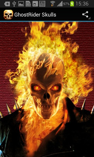 Ghost Rider Skull Wallpaper - WallpaperSafari