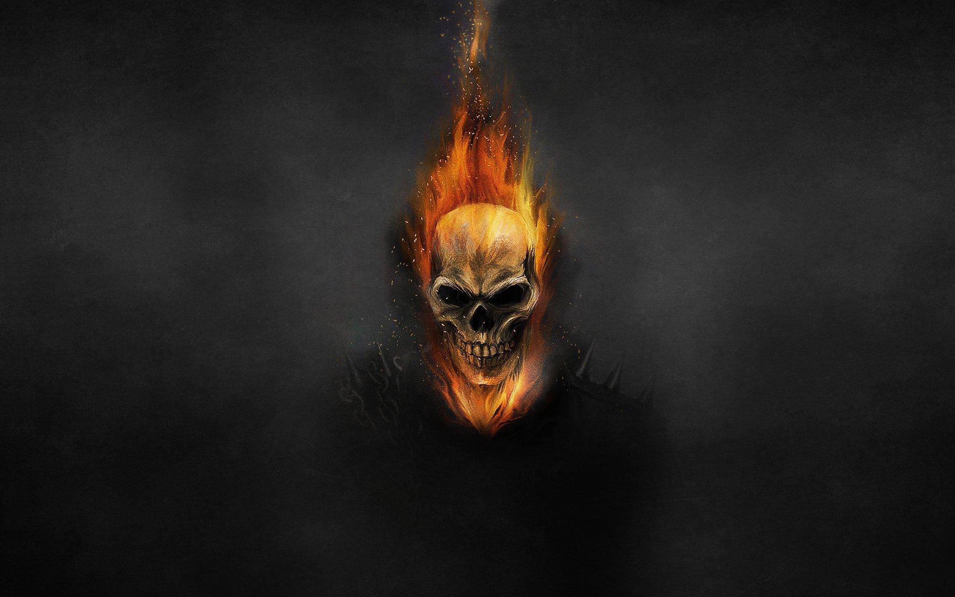 ghost rider skull wallpaper - sf wallpaper