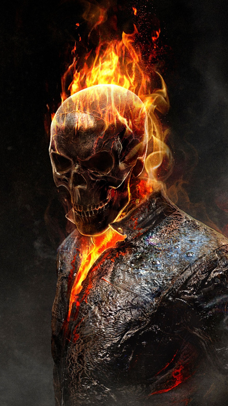 Ghost Rider iPhone 6 Wallpaper (750x1334)