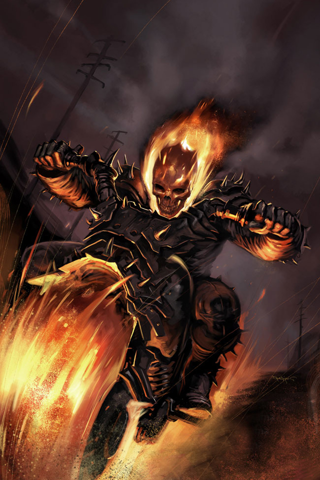 Ghost Rider iPhone Wallpaper - WallpaperSafari