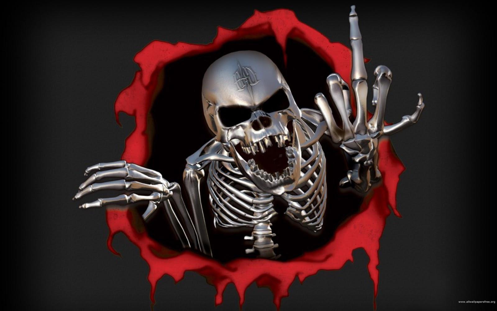 DEZKTOP: Halloween Skull Ghost Wallpaper