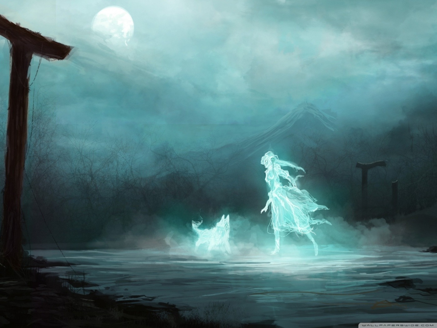 Dark Ghost HD desktop wallpaper : High Definition : Fullscreen