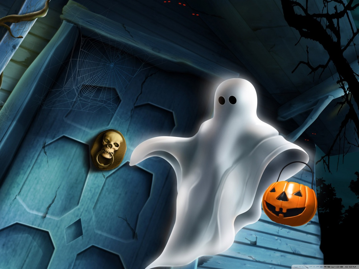 Halloween Ghost HD desktop wallpaper : Widescreen : High