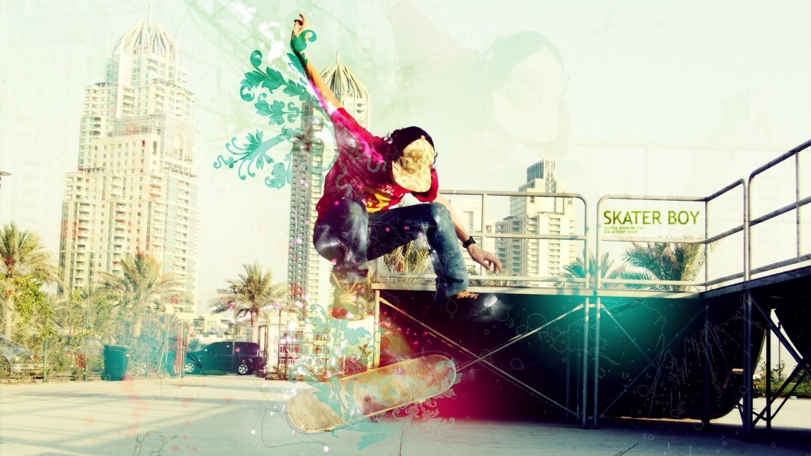 Girl Skateboard Skater Boy Wallpaper #95137 - Resolution 1600x900