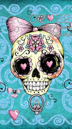 Girl Skull Wallpaper