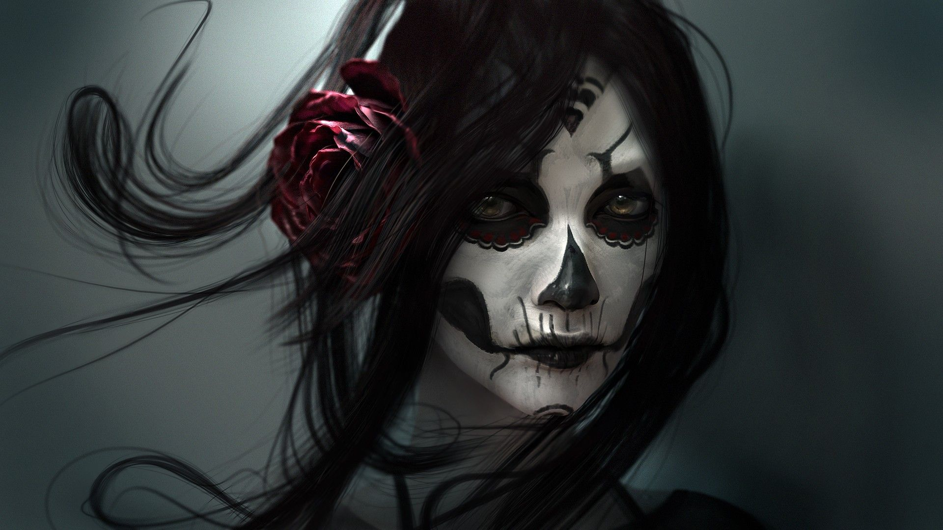 girl skull wallpaper - sf wallpaper