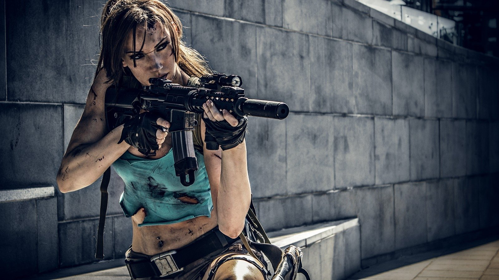91 Girls Guns HD Wallpapers