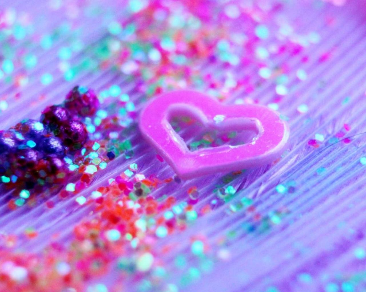 Glitter Heart Wallpapers Group (43+)