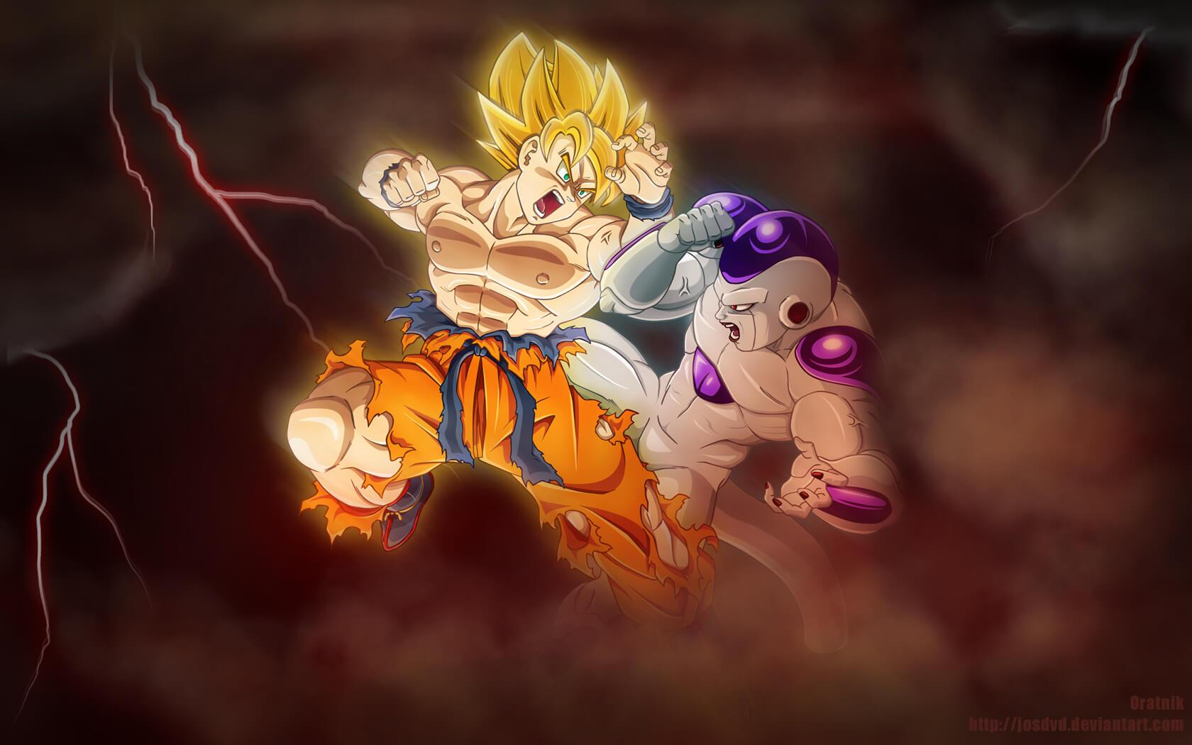 Goku Vs Frieza Wallpaper SF Wallpaper