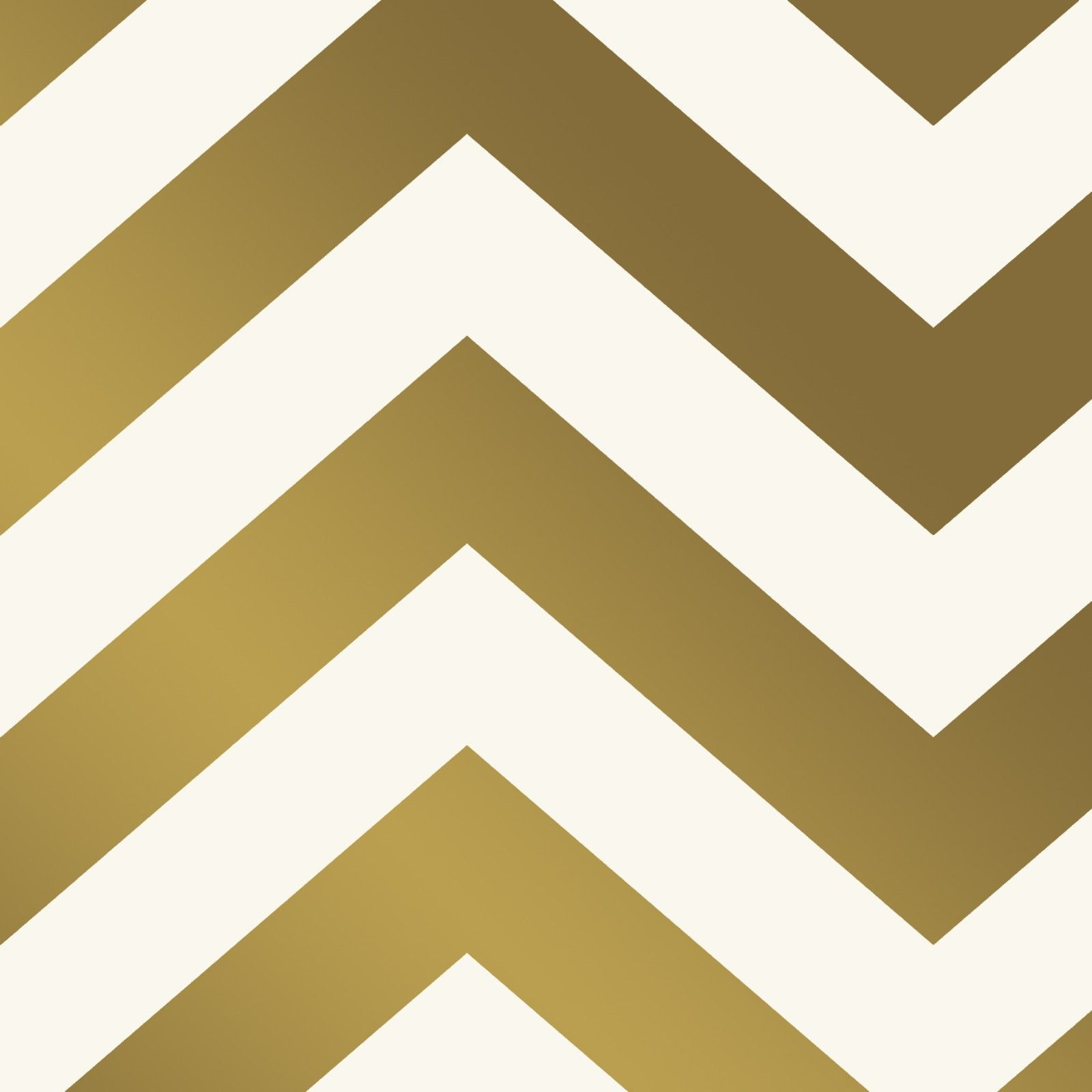 Wallpaper - Chevron - Metallic Gold