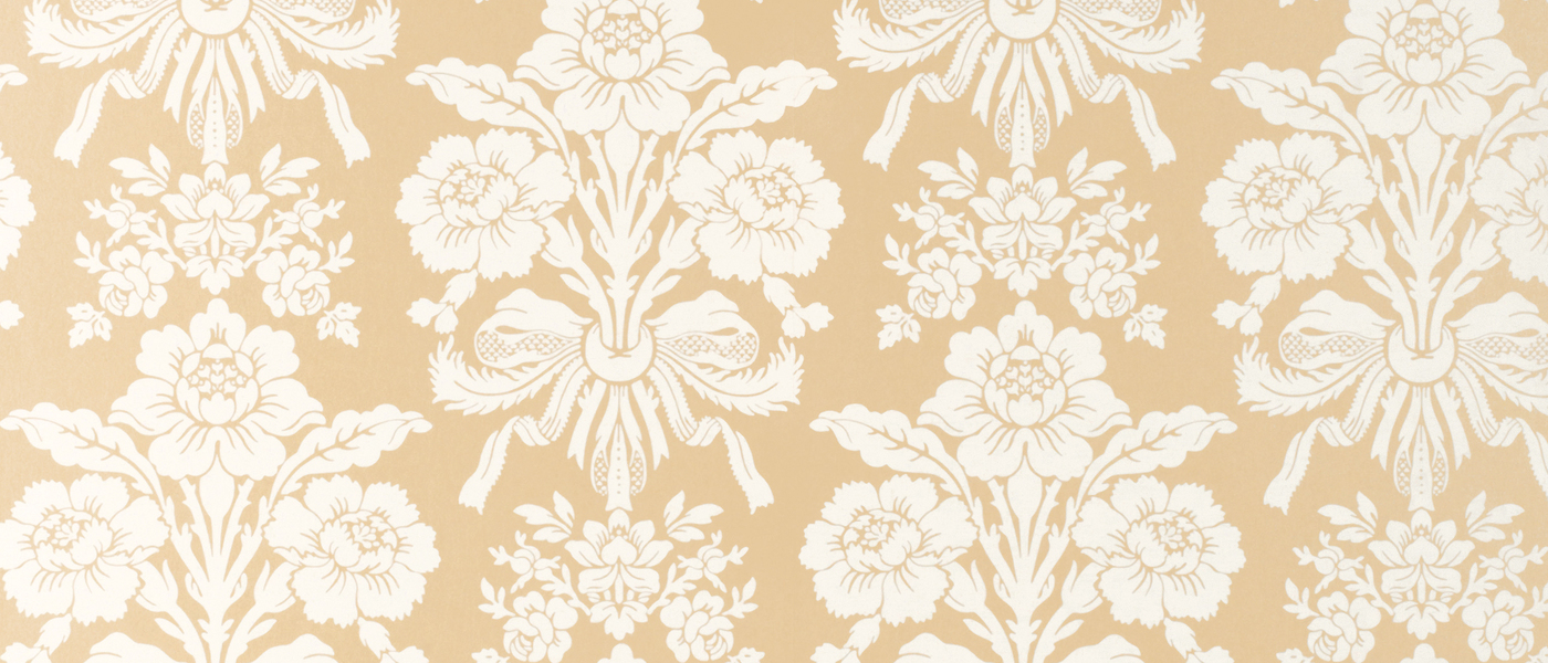 Tatton Gold Damask Wallpaper at Laura Ashley
