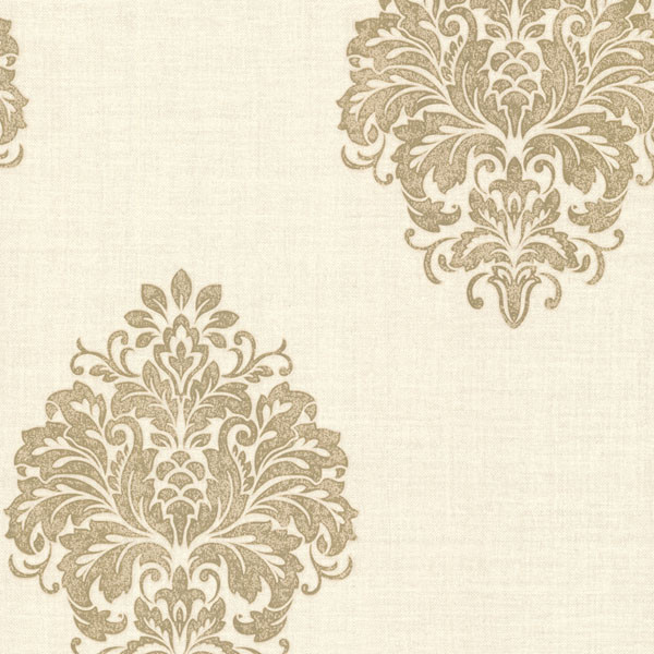 Duchess Gold Damask Wallpaper - Traditional - Wallpaper - by