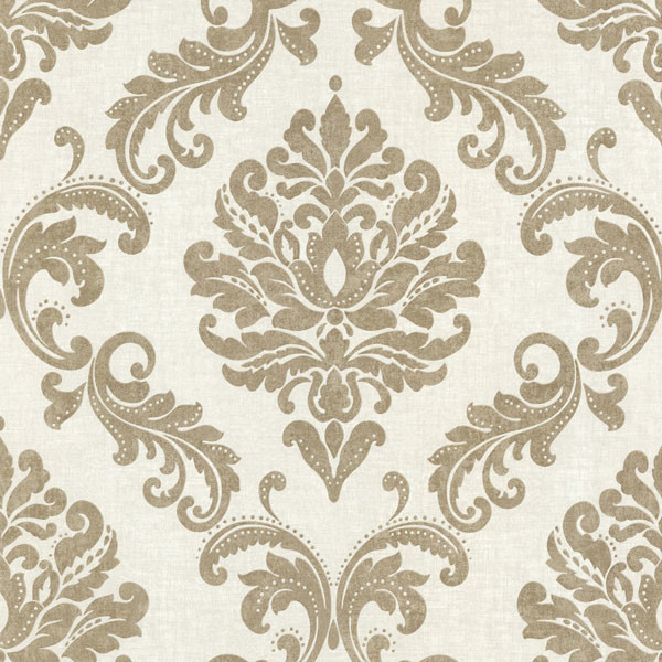 Sebastion Gold Damask Wallpaper  - Victorian - Wallpaper - by