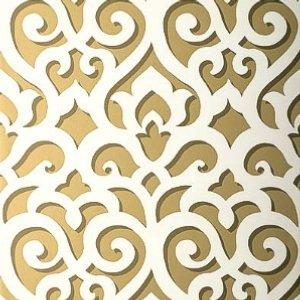 Gold Splatter Pattern Teal Wallpaper