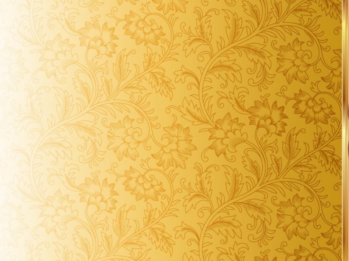 Download Wallpaper 1152x864 Pattern, Ornament, Gold 1152x864 HD