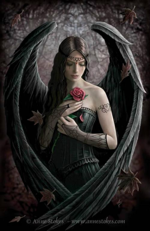 Gothic Angel Wallpaper - WallpaperSafari