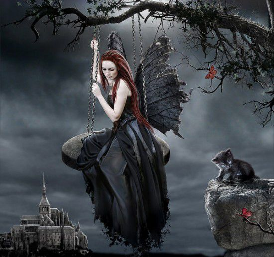 1000+ ideas about Gothic Fairy on Pinterest   Dark fairies, Fairy