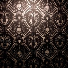 "Wallpaper"" installation by artist Noah Scalin of Skull-A-Day"