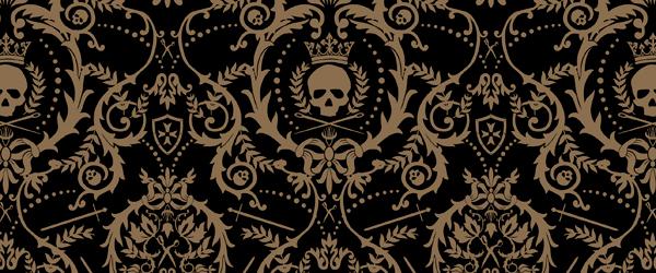 Gothic wallpaper – skulls — thefashionatetraveller com