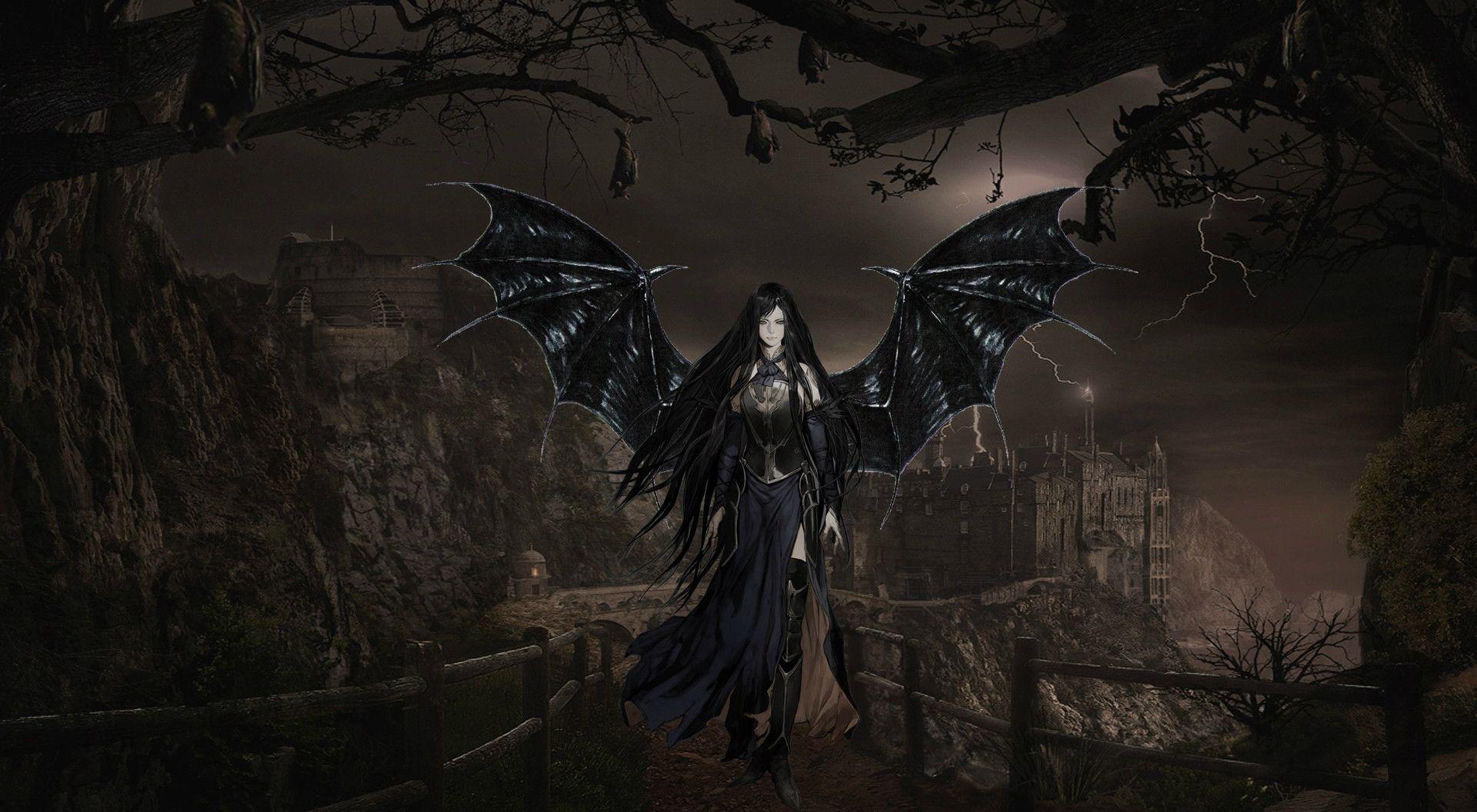 Gothic Vampire Wallpaper