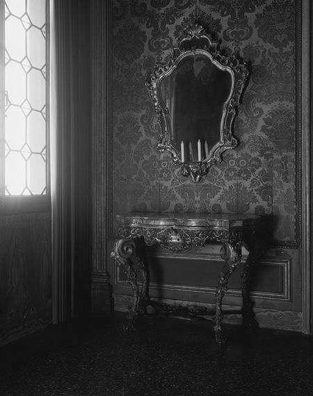 Gothic, Victorian decor #wallpaper mirror | paint it black