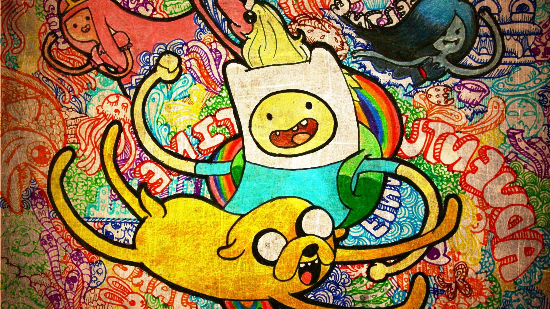 Adventure Time Graffiti Wallpaper by HD Wallpapers Daily
