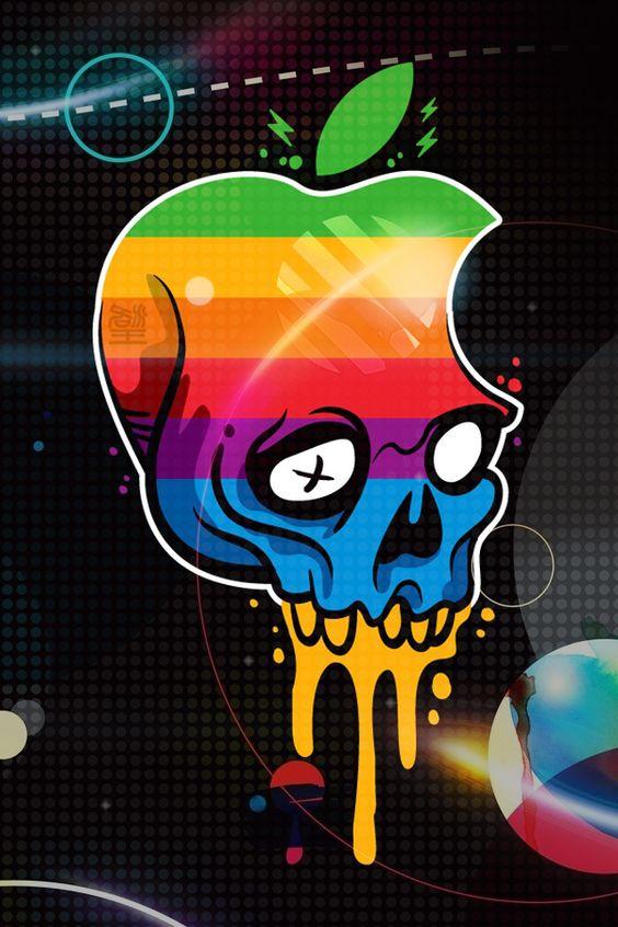 Download Apple Logo Skull HD iPhone wallpaper, background of Logos