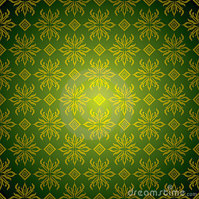 Seamless Wallpaper Green Gold Free Stock Photos & Pictures
